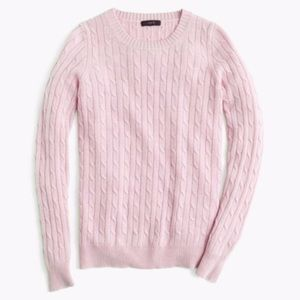 J. Crew Cambridge Cable Crewneck Sweater
